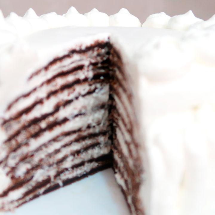 блинный торт со взбитыми сливками рецепт