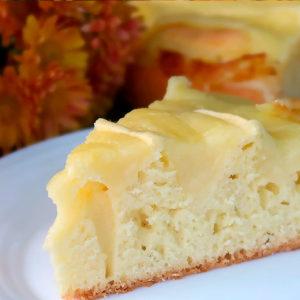 Нежный пирог с заварным кремом