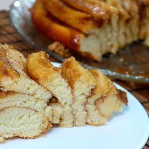 Пирог с корицей и карамелью.