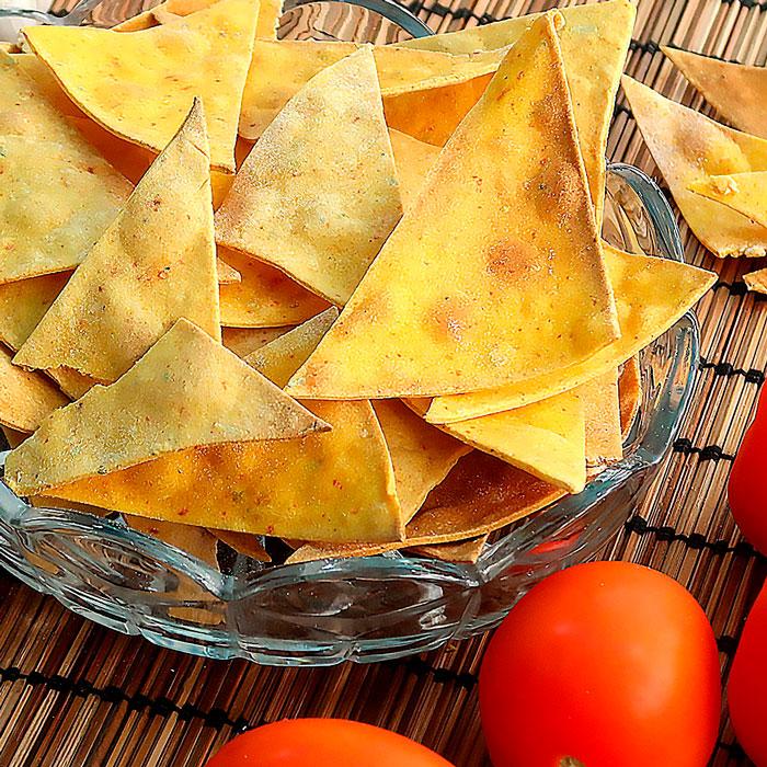 Кукурузные чипсы Начос в духовке