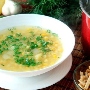 овощной суп с молодой кукурузой